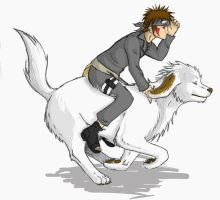 Kiba and Akamaru by Sbi96