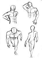 male bodies sketch by Zummeng