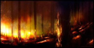 Burning Forest by Lyraina
