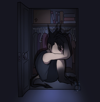 Monster In The Closet by Wowza-Wowzers