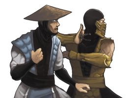 Mortal Kombat Tag Team : Rayden and Scorpion by pati88