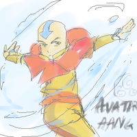 Aang-Airbending by ironsonic