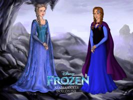 Frozen: Queen Elsa and Princess Anna..Reunion by LadyRaw90