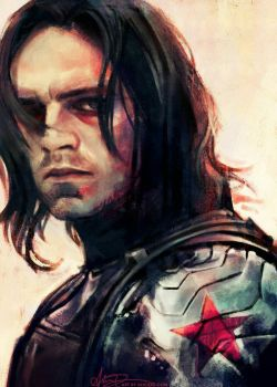 Bucky Barnes x reader: Shampoos and Photos by lunatickle98