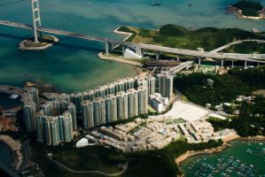 Hong Kong from the Plane by parka