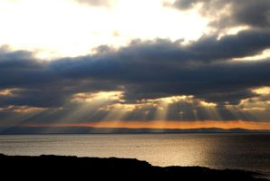 Sunbeams at Ogmore by Sea by taramara