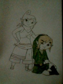 Link and Tetra by CoZmiiC-eLeMenT