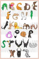 Vector: Animal Alphabet by sl33p1e