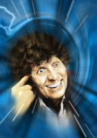 The 4th Doctor - Blue Vortex by jlfletch