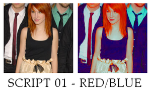Red and blue saturation script by killtheliights