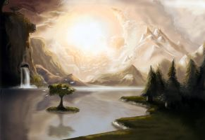 Landscape revised with tablet. by Joey-B