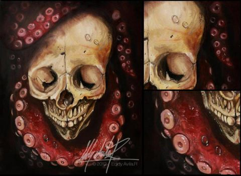 The Skull and Octopus Detail by eddy-avila-r