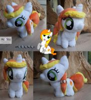 Mini Pony Plush - OC Pyra Blaze by meplushyou