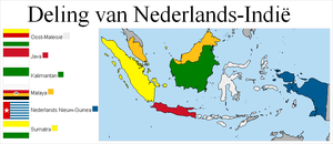 Division of Dutch East Indies by lamnay