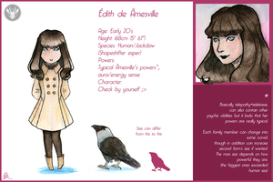Edith de Amesville - Reference Sheet by Domisea