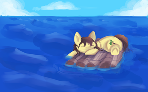 NATG - Pony Lost at Sea by mintykoneko