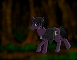 Vaenlin's been turned into a pony by Chardove