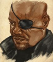 Nick Fury by MyBonsaiPatroclo