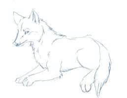 wolf lines sketch by Silent-Arpeggio