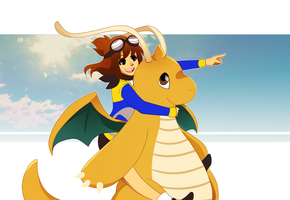 Dragonite Used Fly by tabby-like-a-cat