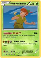 Peter Pan and Tinker Bell Pokemon Card by Amphitrite7