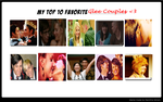 My Top Ten Favorite Glee Couples by AzuratheSeedrain