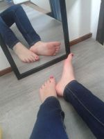 Soles in the mirror by Delilah-Sock