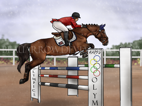 Snow Jumping by BeauArrow