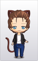 Chibi Kitty Hiddles by Captain-Piemaker