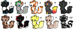 Kitten Adopts-Group 1-Open by Spixekse
