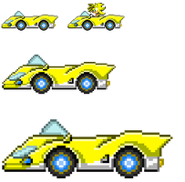 Dakota SaSASR Car Sprite by LucarioShirona