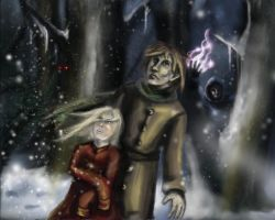 Gabriel and Falahil - panel by calthyechild