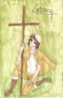 APH: Greece and his cross by Demmi-chan