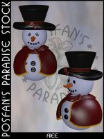 Snowman 019 by poserfan-stock