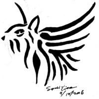Tribal-Style Winged Tiger by samiitiger