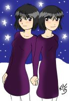 Peanuts twins: Mary and Marie (3 and 4) by Koku-chan