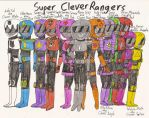 Super CleverRangers - Clevernesses' Season 2 suits by Magic-Kristina-KW