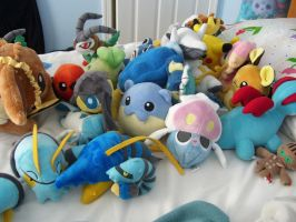 Pokedolls On My Bed by Fishlover