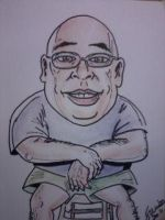 Sharpie and chalk pastels caricature by scottynobody