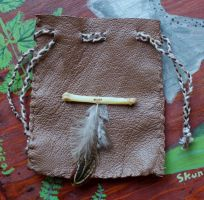 New leather pouches - 6-9-14 by lupagreenwolf