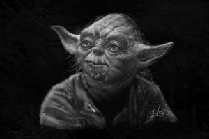 Yoda sketch by Simon Buckroyd by Binoched