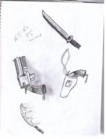 millies weapons by beastwithapencil