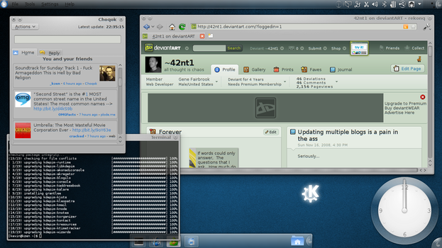 Understated Oxygen on KDE by 42nt1