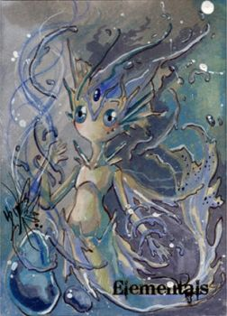 Elementals Sketch Card - Yuriko Shirou 5 by Pernastudios