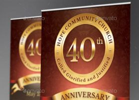 Church Anniversary Banner Template by Godserv