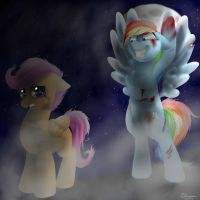 As Scootaloo got older, her idol got crazier... by cattoy10