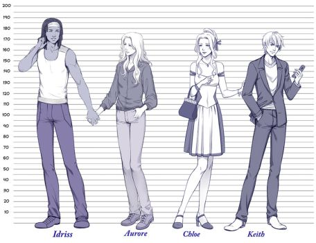 Commission: Height Chart .2. by alexielart