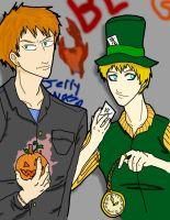 Scarecrow and Mad Hatter by Oni-at-Heart