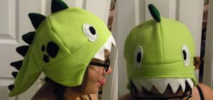 Dinosaur Fleece Hat by Negai-Boshi