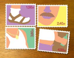 Polish Stamps by froginthejar
